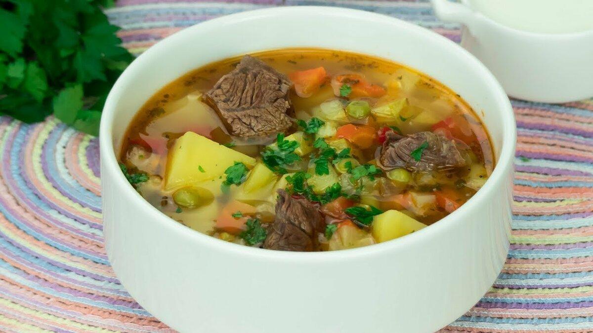 них рецепты суп с мясом в картинках гостиных
